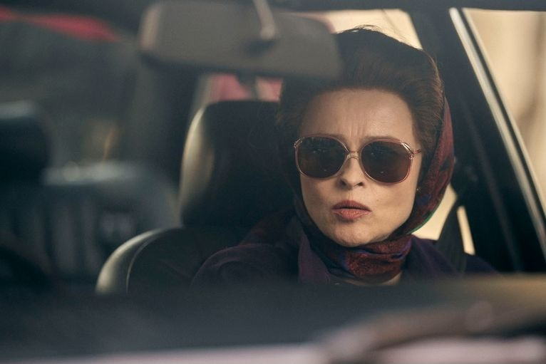 "Helena Bonham Carter is pictured as Princess Margaret in Season 4 of ""The Crown."""