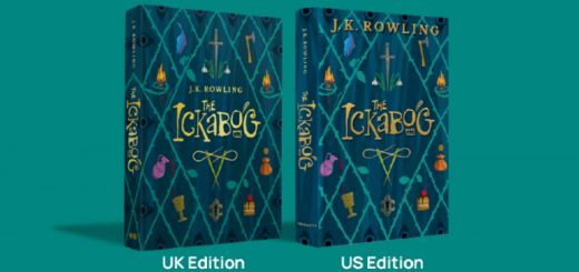 "Covers of the UK and US version of ""The Ickabog."""