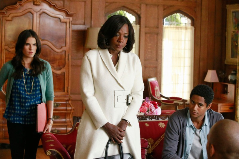 Karla Souza, Viola Davis, and Alfie Enoch play lawyers in How to Get Away with Murder.