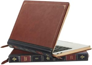 Leather book laptop sleeve