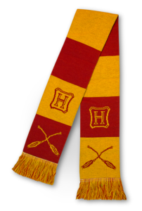 Nimbus broom–themed Gryffindor scarf