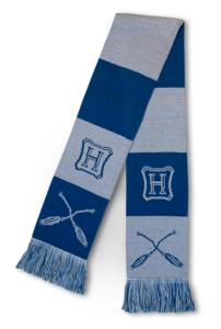 Nimbus broom–themed Ravenclaw scarf