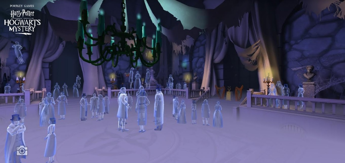 Ghosts mix and mingle in the Death Day Ballroom.