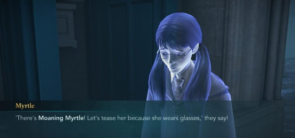 Moaning Myrtle was moaning about her glasses years before Harry Potter arrived at Hogwarts.