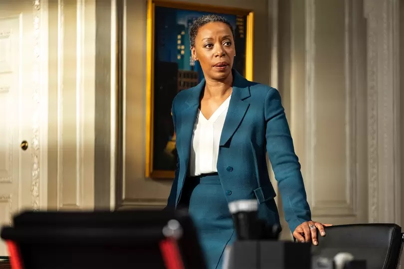 "Noma Dumezweni is pictured as barrister Hayley Fitzgerald in a still from ""The Undoing."""
