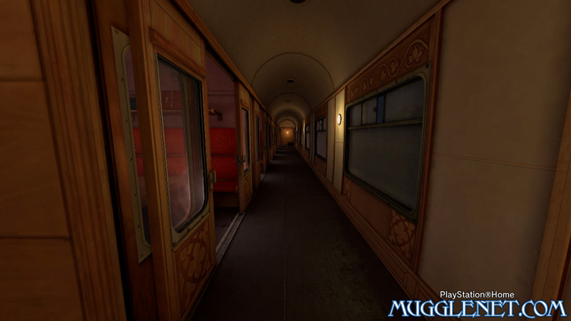 Pottermore Playstation Hogwarts Express interior
