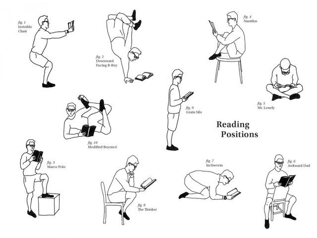 Reading Yoga Poses