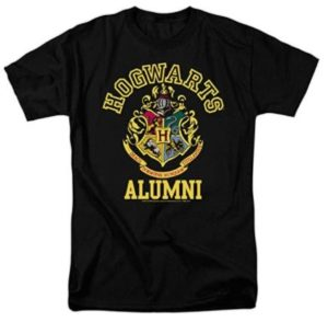 Hogwarts alumni T-shirt with Hogwarts crest