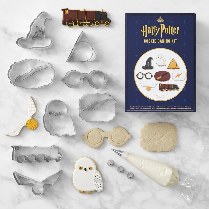"""Pictured is a set of """"Harry Potter""""-themed cookie cutters from Williams Sonoma."""