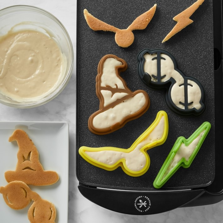 """Pictured is a set of """"Harry Potter""""-themed pancake molds from Williams Sonoma."""
