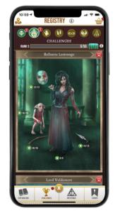 Bellatrix's Challenge Registry page in Wizards Unite
