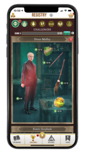 Draco's Challenge Registry page in Wizards Unite