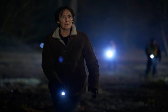 "Fiona Shaw is pictured in a still image from Season 2 of ""Baptiste."""