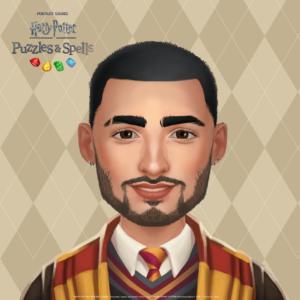 "Zayn Malik's avatar in ""Harry Potter: Puzzles & Spells"""