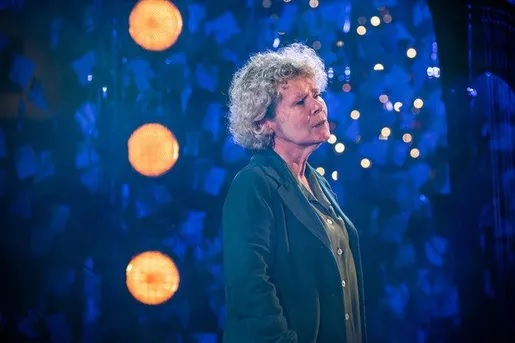 Imelda Staunton gazes into the distance in a still image from the Donmar Warehouse's holiday show.