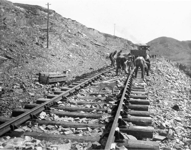Workers constructing the West Highland line.