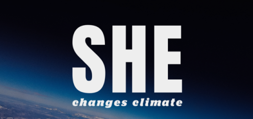 A banner for SHE Changes Climate is displayed as a featured image.