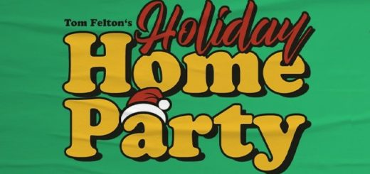 The banner for Tom Felton's Holiday Home Party livestream event.