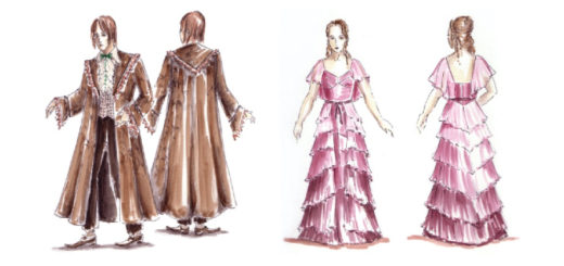 Yule ball costume sketches