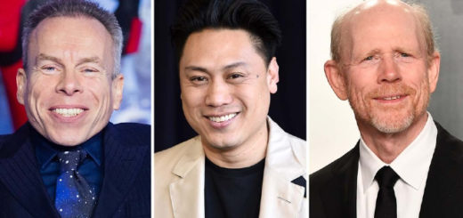 Warwick Davis, Jon Chu, and Ron Howard are pictured.