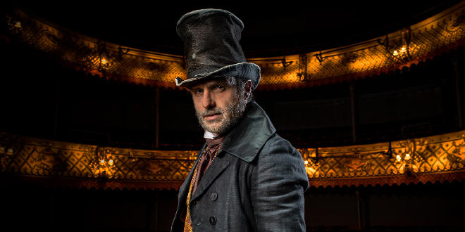 Andrew Lincoln as Scrooge in A Christmas Carol