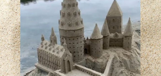 Sculptor Leonardo Ugolini built the entire Hogwarts Castle out of sand.