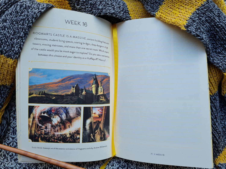 Hogwarts concept art journal prompt
