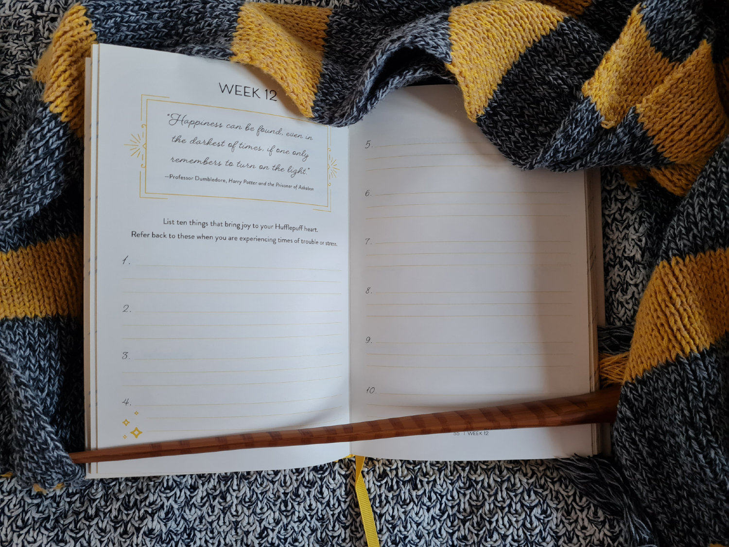 Quote and list journal prompt