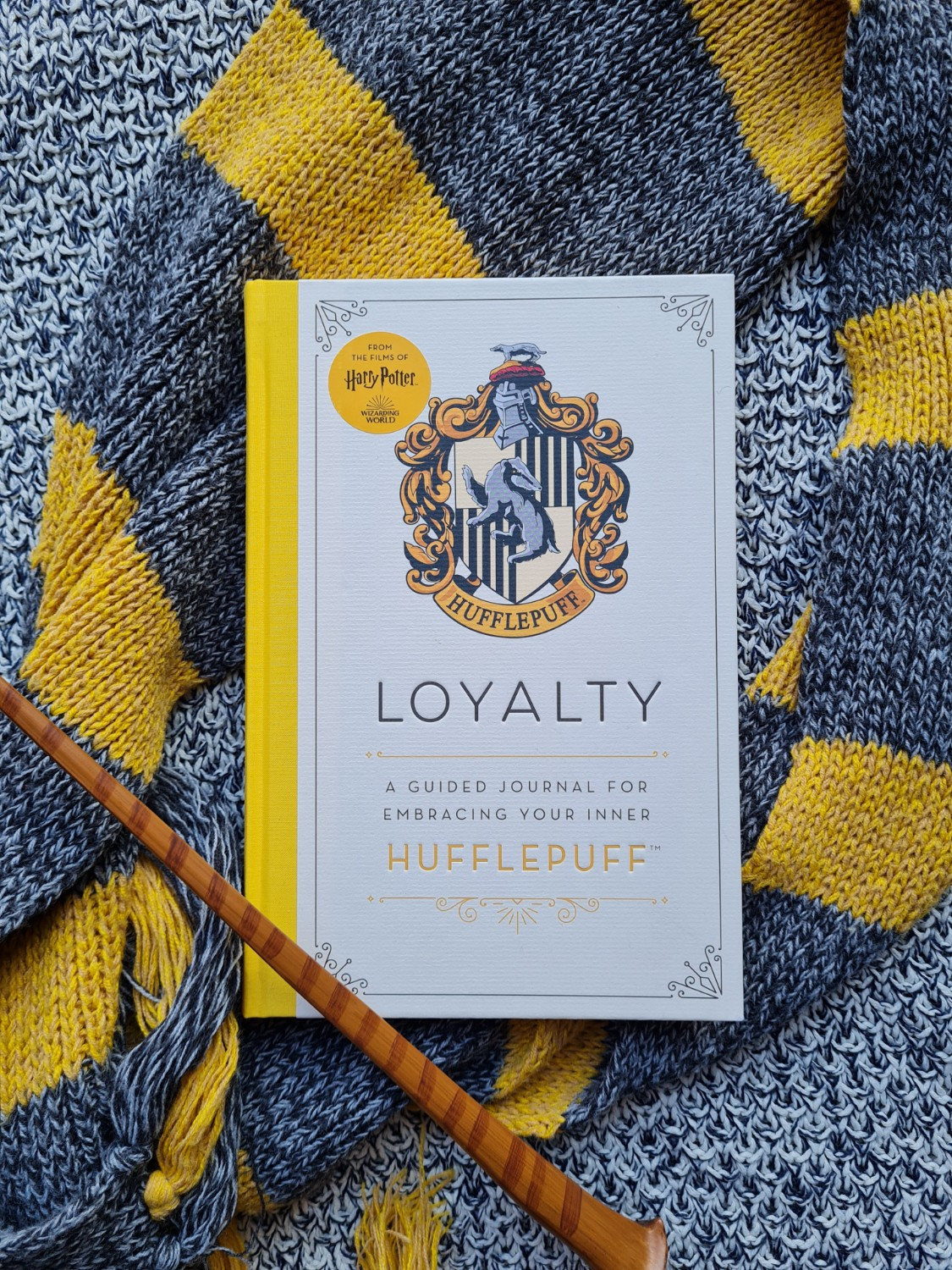 """Cover of """"Loyalty: A Guided Journal for Embracing Your Inner Hufflepuff"""" from Insight Editions"""