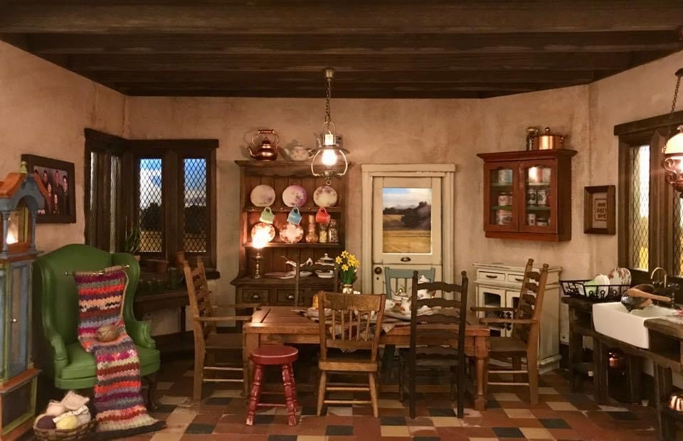 The Weasley's kitchen and dining room looks as welcoming and warm as ever.
