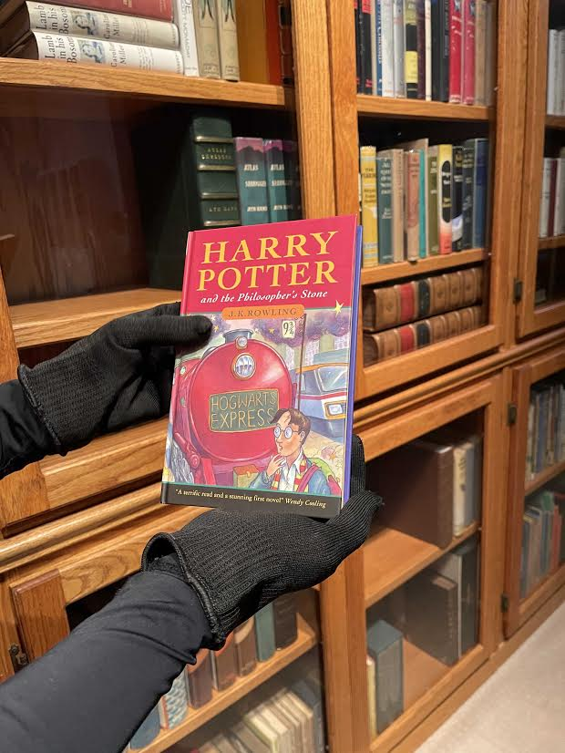 """The front cover of Jeremy Padawer's copy of """"Harry Potter and the Philosopher's Stone"""" is shown."""