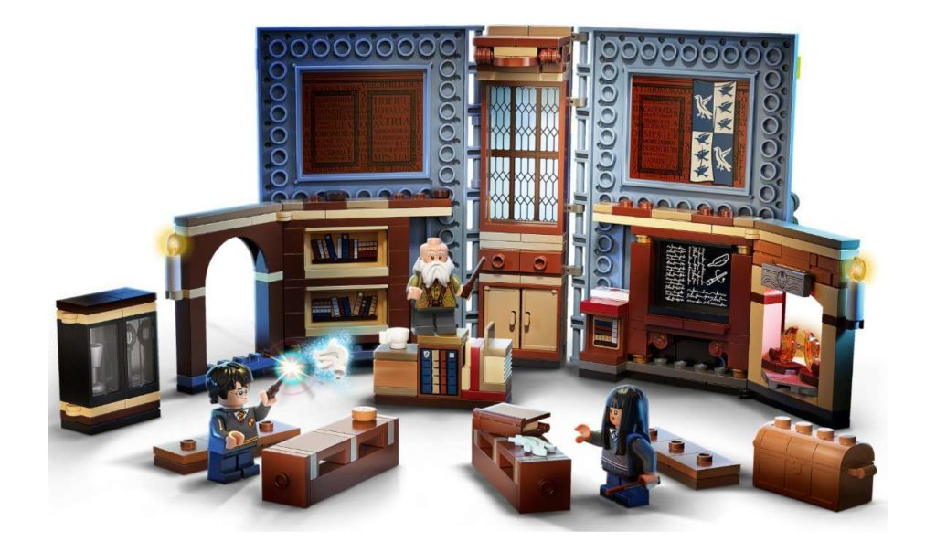 Completed LEGO Charms Classroom