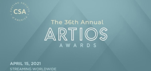 The banner for the 36th Artios Awards is featured.