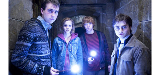 Matthew Lewis and his costars in Harry Potter and the Deathly Hallows - Part 2