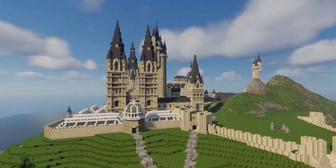 Minecraft Hogwarts by Planet Dragonod