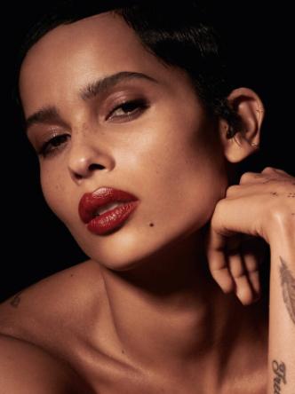 Zoë Kravitz models her new lipstick collection: Rouge Pur Couture x Zoë Kravitz.