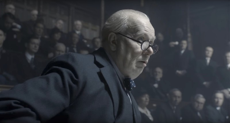 Gary Oldman giving his famous speech to Parliament as Winston Churchill in Darkest Hour.