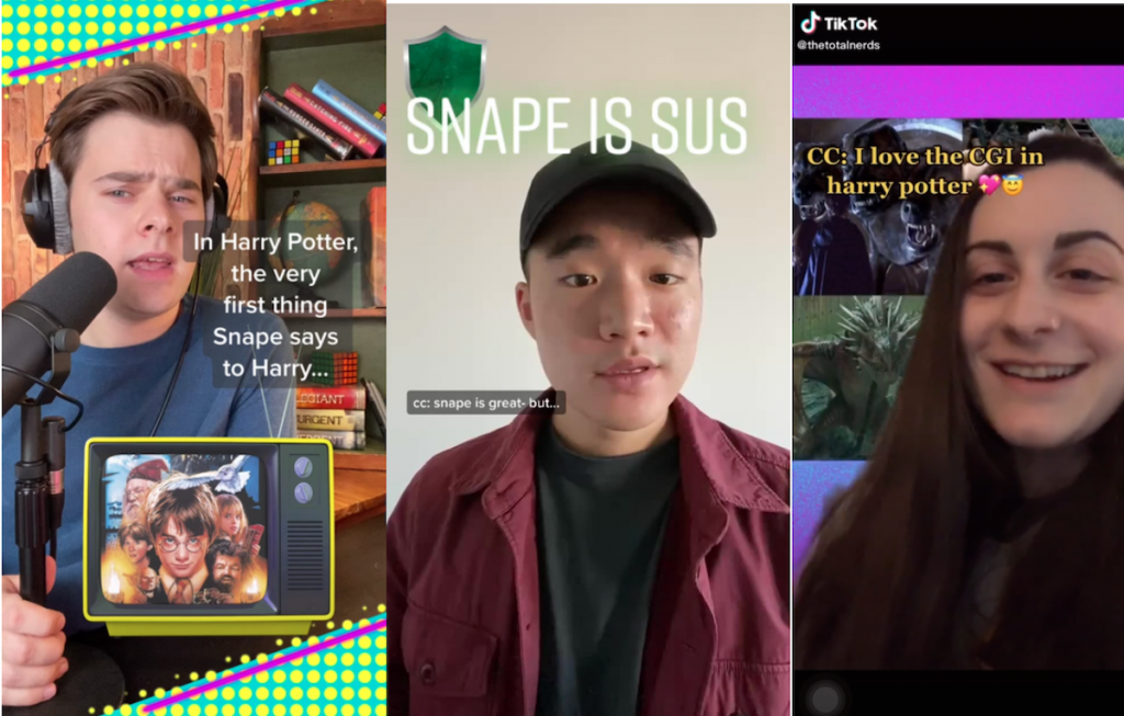 These screenshots are from the TikTok account @thetotalnerds