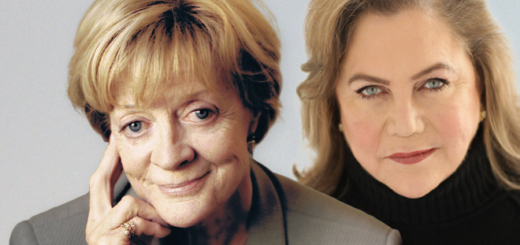 A banner from Fane Productions shows Dame Maggie Smith (Minerva McGonagall) at the left and Kathleen Turner at the right.