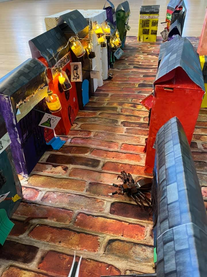 Diagon Alley creation by students of Sacred Heart Catholic Primary and Nursery school