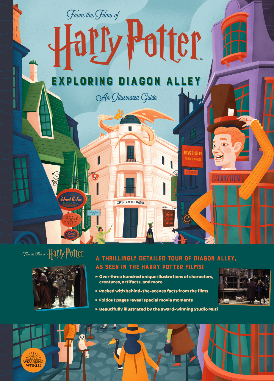 An image of the cover page of 'Harry Potter: Exploring Diagon Alley: An Illustrated Guide'