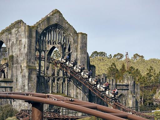This is the Hagrid Motorbike adventure at Universal Studios.