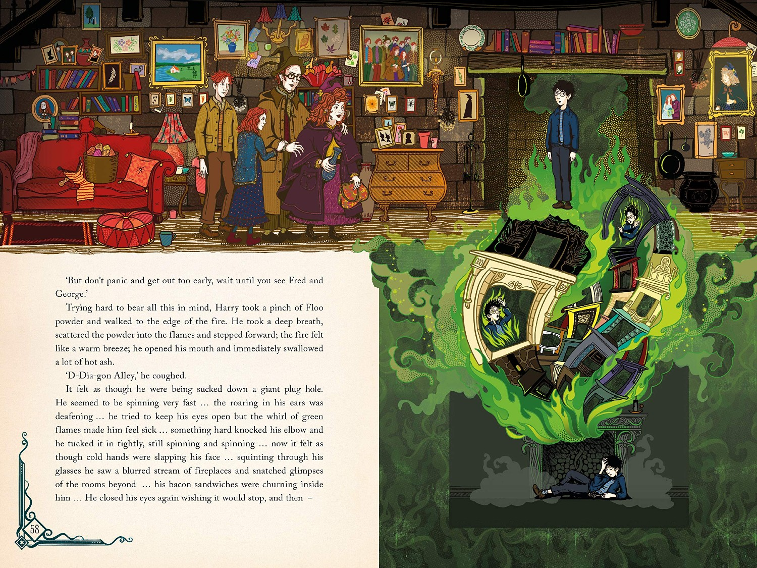 """MinaLima will publish their illustrated """"Chamber of Secrets"""" book on October 19."""
