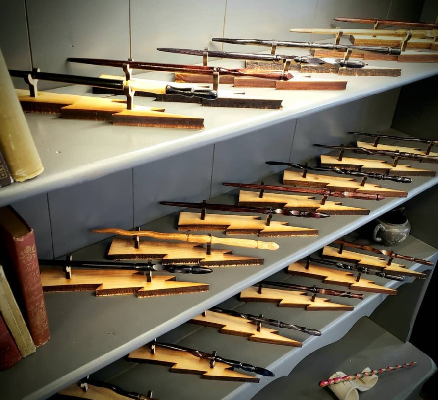 OrchardWorks' display of wands.