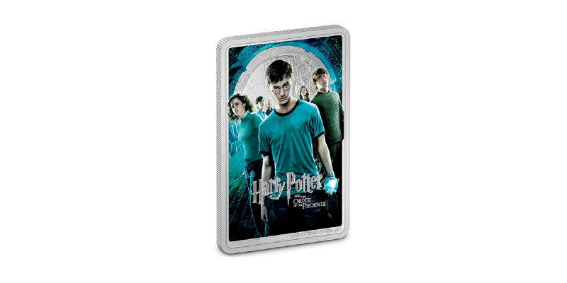 """""""Harry Potter and the Order of the Phoenix"""" movie poster coin from New Zealand Mint."""