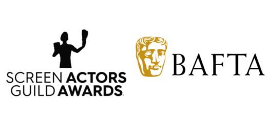 The logo for the Screen Actors Guild Awards is pictured beside the BAFTA logo in a featured image.