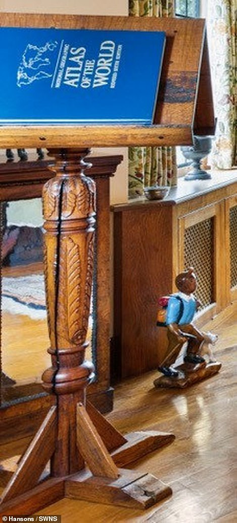 """Wooden lectern featured in """"Harry Potter"""" films discovered in a collection of antiques."""
