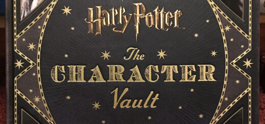 """Black book cover with the words """"Harry Potter: The Character Vault"""" in gold letters"""