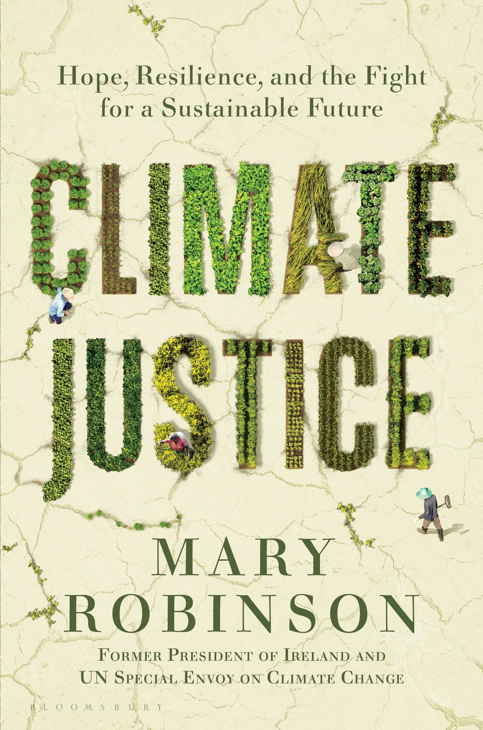 Book cover of 'Climate Justice: Hope, Resilience, and the Fight for a Sustainable Future' by Mary Robinson