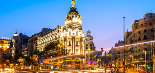 The city of Madrid, Spain